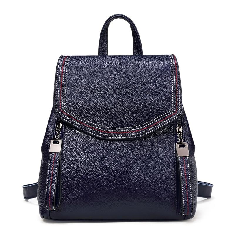 Nesitu New Fashion Grey Black Blue Brown 100% Guarantee Genuine Leather Cute Small Women Backpacks Female For Girl M191