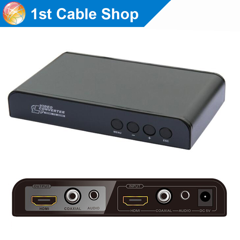 LKV323 Coaxial HDMI to HDMI Scaler with down up scaling funtion with coaxia stereo audio out
