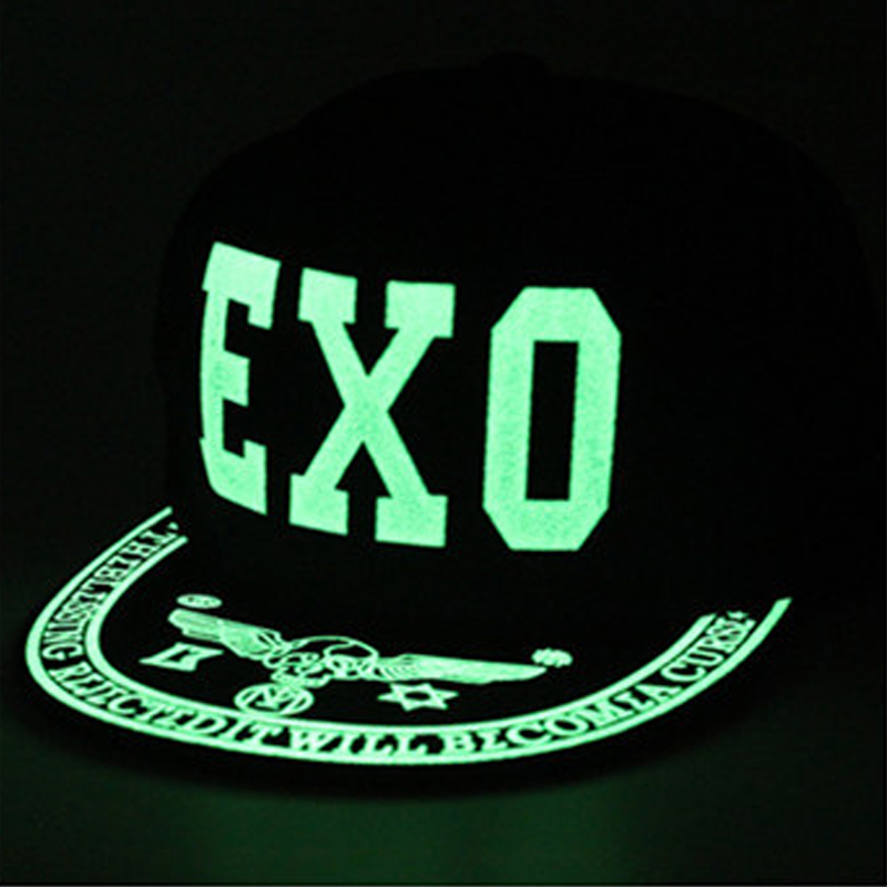 2019 Graffiti   Baseball     Cap   Hip Hop Fluorescent Light Snapback   Caps   Men Casquette Women Girl Noctilucence Hats Boy Luminous Hat