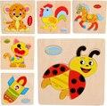 Hot colorido 3D Puzzle para crianças animais brinquedos de madeira de frutas foguete forma capacidade educacional brinquedo engraçado