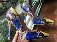 Top Quality High Heels Snake Shoes Extreme Stiletto Heels Women Pumps Sexy Women Shoes High Heels Ladies wedding Shoes Chaussure
