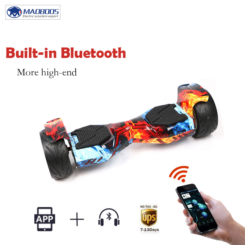 MAOBOOS Hoverboard LED Light Electric self balancing Scooter for Adult Kids skateboard 8.5 inch 700w Hoverboard UL2272 No tax no tax to eu ru four wheel electric skateboard dual motor 1650w 11000mah electric longboard hoverboard scooter oxboard