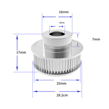 1Pcs Aluminum GT2 6mm Width 40 Tooth Teeth 2GT Timing Drive Pulley Pully Gear For 3D Printer Bore=5mm/6.35mm/8mm/10mm/12mm