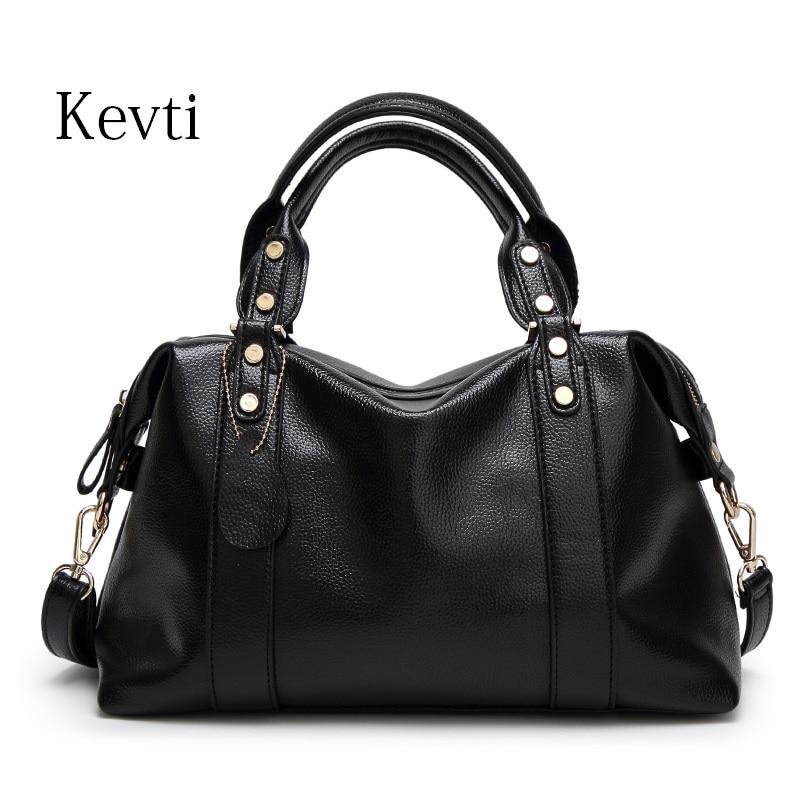 KEVTI Designer Leather Women Handbag 2017 New Popular Fashion Female Shoulder bags High Quality Ladies Tote Bag bolsa feminina