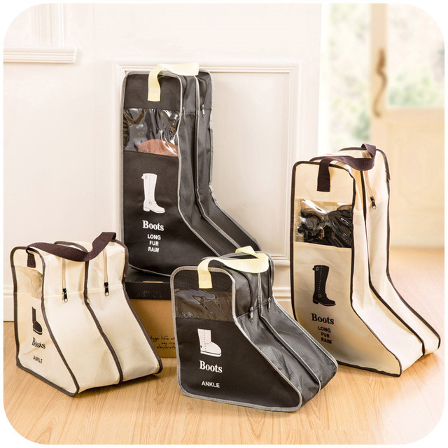 Portable Travel Organizer Case Winter Women Boots Shoes Storage Bags  Moistureproof Dust-proof Design with Handle Shoes Protector f31aafc3ae