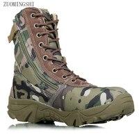 Men military boots camouflage tactical combat boots asker bot men kamuflaj bot army men climbing shoes botas hombre Yasilaiya