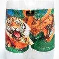 Tiger and SexyWomen Cotton Men Underwear Sexy Men Underpants Boxers Cotton Boxer Shorts Underwear