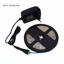 LED Strip SMD 2835 DC12V 60LEDs/m 5m/lot RGB Flexible LED Light IP65 Waterproof with 12V 2A Power adpater for Indoor landscaping