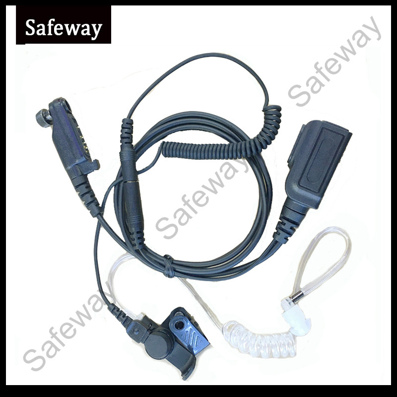 Walkie Talkie Covert Acoustic Tube Headset For HyteraPD602 PD662 PD662G PD682 PD682G X1P