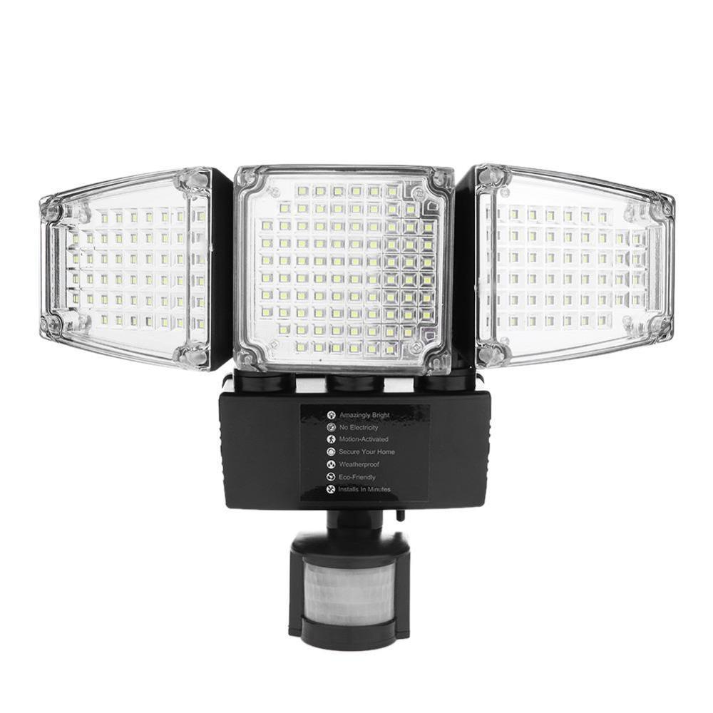 188 LED lumière solaire PIR capteur de mouvement sécurité lumière d'inondation lampe extérieure étanche solaire lampes de nuit d'urgence spot mural