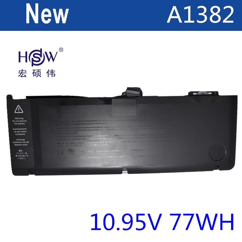 HSW laptop battery for APPLE A1382,020-7134-01,661-5844 MC723LL/A & MC721LL/A A1286 for Macbook Pro 2011 version hsw laptop battery for apple a1382 020 7134 01 661 5844 mc723ll a