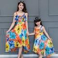La familia a juego trajes madre e hija a juego vestidos largos ropa de la familia madre e hija ropa Beach Dress DR72