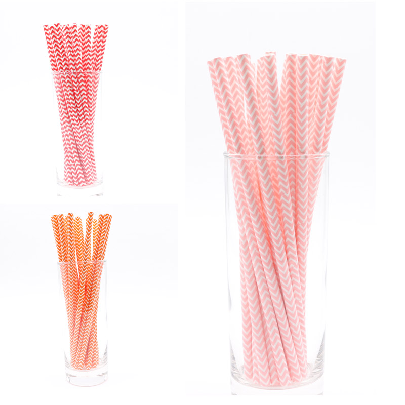 PLAYGUYS 25Pcs/Lot Light Pink Blue Paper Straws Christmas Decoration For Home Baby Shower Favor Children Birthday Party Supplies