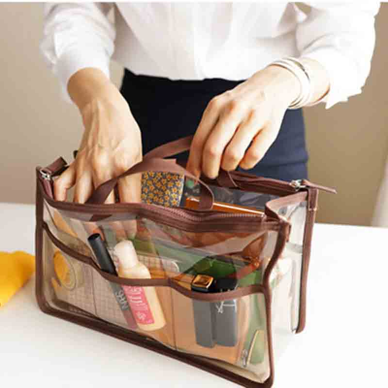 Transparent Cosmetic Bags Organizer  Makeup Bag PVC Beautician  Beauty Toiletry Bag Make Up Pouch Wash Bags 30