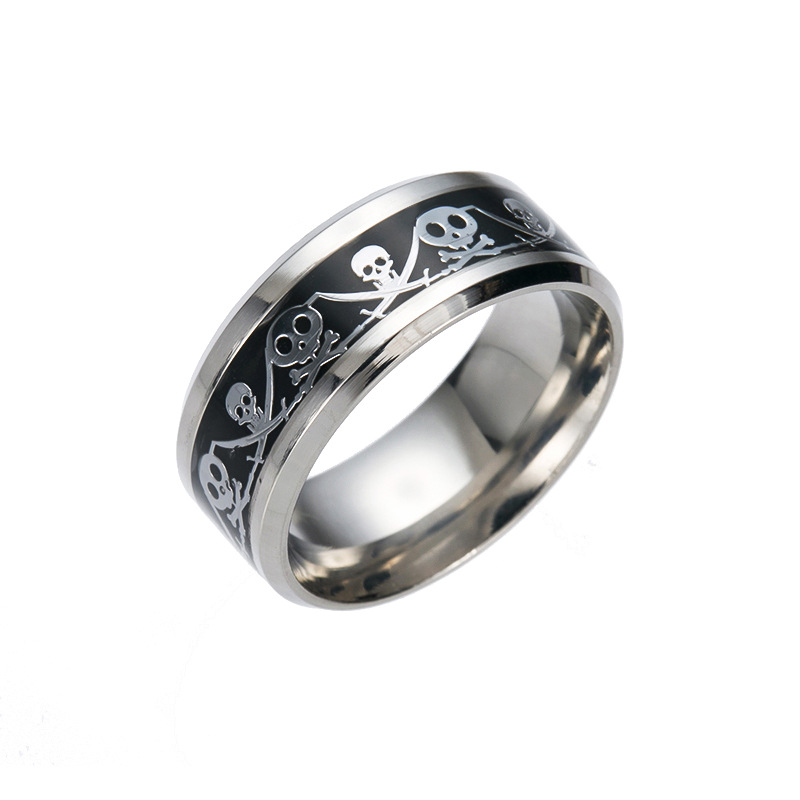 online shop retro style steel men ring men titanium steel jewelry accessories punk skull wedding rings for women stainless metal material aliexpress - Skull Wedding Rings For Men