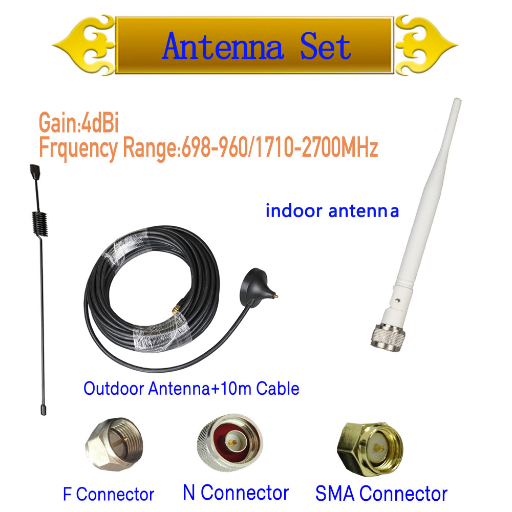 ZQTMAX Suction Cup Antenna For Gsm 3g 4g Lte Cell Phone Signal Booster 4dBi Gain Omni Antenna+10M Cable
