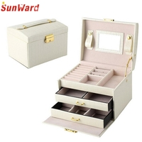 Jewelry Box Necklace Earring Jewellery Container Boxes Case Jewelry Organizer Birthday Gift For Women Jewelry Cases