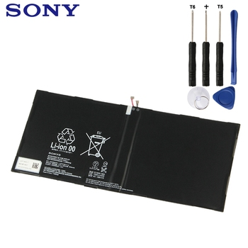 Sony Original Replacement Tablet Battery For SONY Xperia Tablet Z2 SGP541CN LIS2206ERPC Authenic Rechargeable Battery 6000mAh sony original replacement phone battery for sony xperia c5 ultra e5553 z3 z4 lis1579erpc authenic rechargeable battery 2930mah