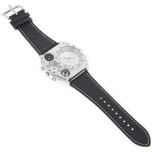 Image 4 - Oulm 1349 Reloj Hombre Mannen Dual Beweging Sport Militaire Horloge Met Kompas Thermometer Decoratie Mannelijke Klok Relogio Masculino