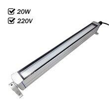 Заводская розетка 20 Вт 220VAC Водонепроницаемая светодиодная панель свет CNC машины инструменты освещение все алюминиевые оболочки анти-масло взрывозащищенный IP67