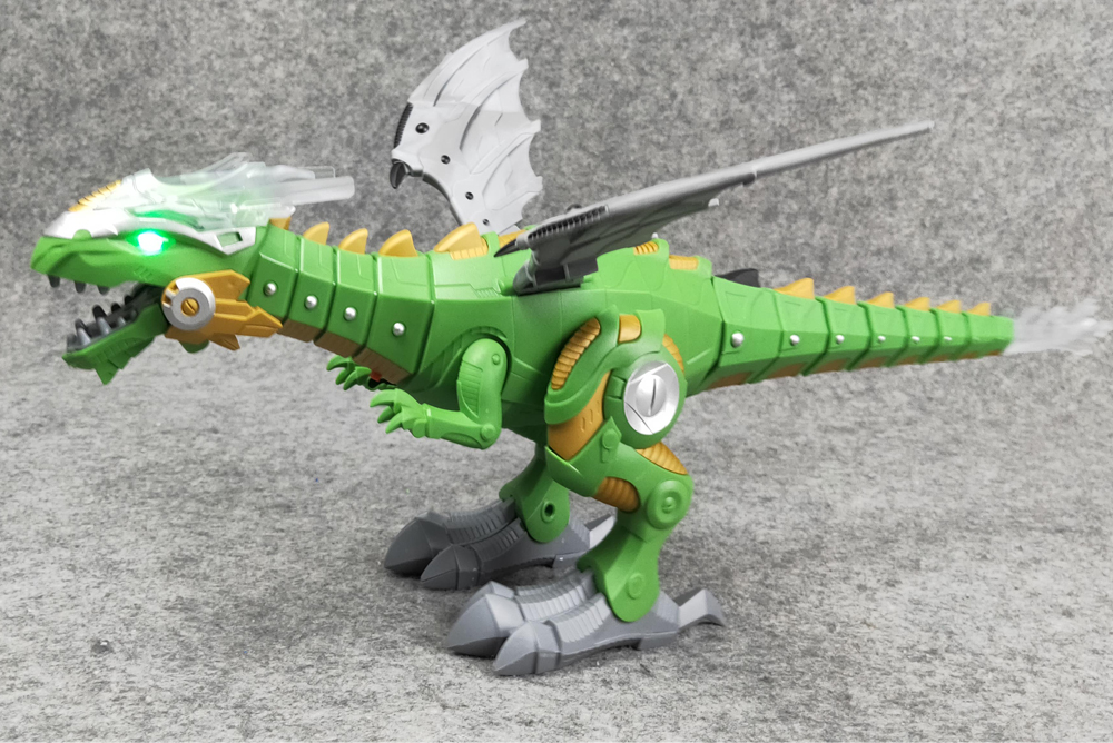Brinquedo elétrico grande tamanho andando spray dinossauro
