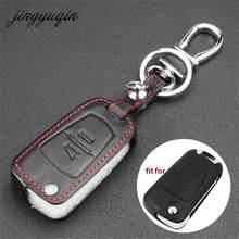 Jingyuqin housse en cuir pour Vauxhall Opel Astra Vectra Zafira 2 boutons boîtier porte-clé à distance
