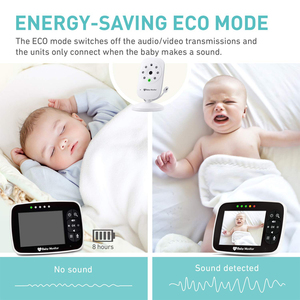 Image 5 - Newest Baby Monitor,3.5 inch LCD Screen Display Infant Night Vision Camera,Two Way Audio,Temperature Sensor,ECO Mode,Lullabies