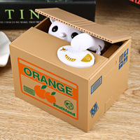 Novelty Gag Toys Automated Cat Steal Coin Bank Piggy Bank Moneybox Money Saving Box Digital Coin