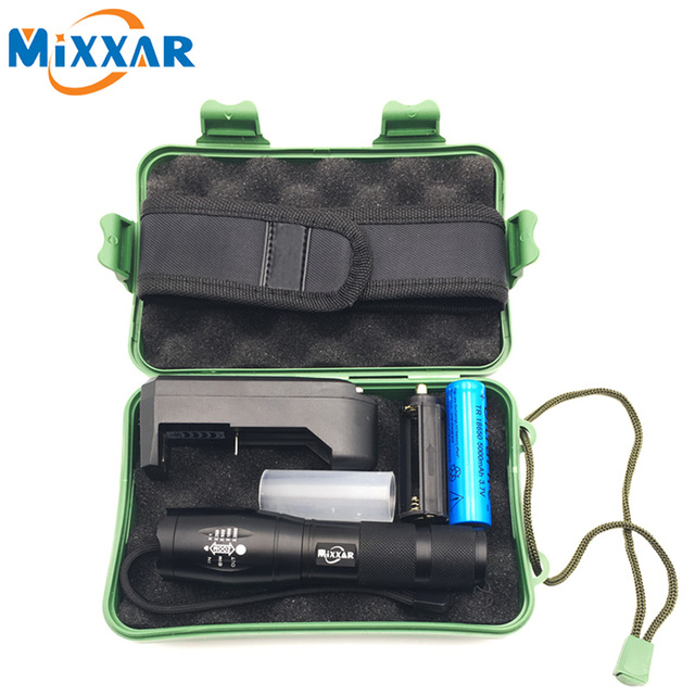 ZK30 LED Flashlight Tactical CREE XM-L T6 4000LM LED Torch Zoomable Aluminum Flashlight Torch Lantern For Camping With Box