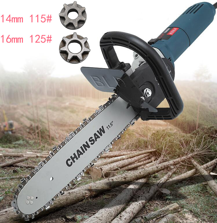 115#Portable cutting machine modification household  electric woodworking chainsaw logging portable chain saw woodMill chain saw|Power Tool Accessories| |  - title=