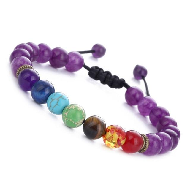 11.11 7 Chakra Bracelet Adjustable Beads Bangles & Bracelets Natural Solar System Energy Bracelet Male Healing Balance Pulseira 3
