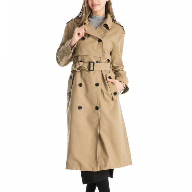 Trench Coat Mulheres Outono Inverno 2018 Moda Longo Windbreaker Com Cinto de Algodão Solto Brasão Para Mulheres Outono Blusão Feminino