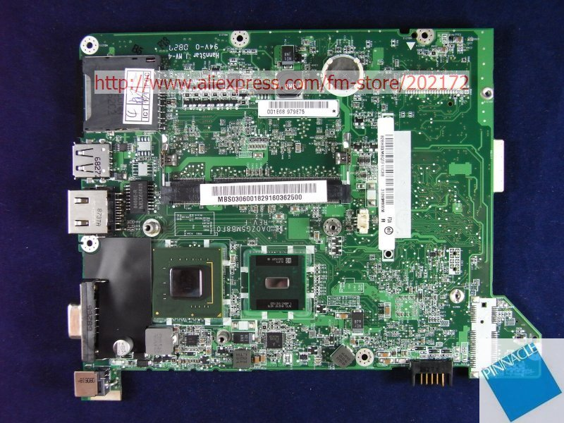 MBS0306001 Motherboard for Acer aspire ONE (AOA 8.9'') A110 A150 MB.S0306.001 31ZG5MB0050 ZG5 tested good mbpdm01002 motherboard for acer apsire 4810tz mb pdm01 002 jm41 48 4cq01 02n tested good