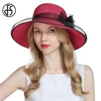 FS Large Brim Beach Hats For Women Foldable Straw Hat Summer Elegant Lady Flower Sombreros Elegant Net Yarn Sombreros