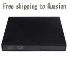DVD-ROM USB 2.0 lecteur de DVD ROM externe lecteur de CD DVD USB lecteur optique lecteur externe lecteur DVD livraison gratuite en russe