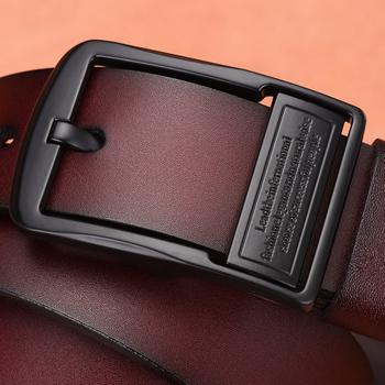 [LFMB] leahther pas mężczyźni prawdziwa skóra dla mężczyzn pasek pas dla mężczyzn krowa prawdziwej skóry luksusowe pas pasek męski mężczyźni pas tanie i dobre opinie Cowskin Metal Dla dorosłych nz361 Stałe Pasy 3 8cm 7 7cm Moda men belt leather leather belt men designer belts men high quality
