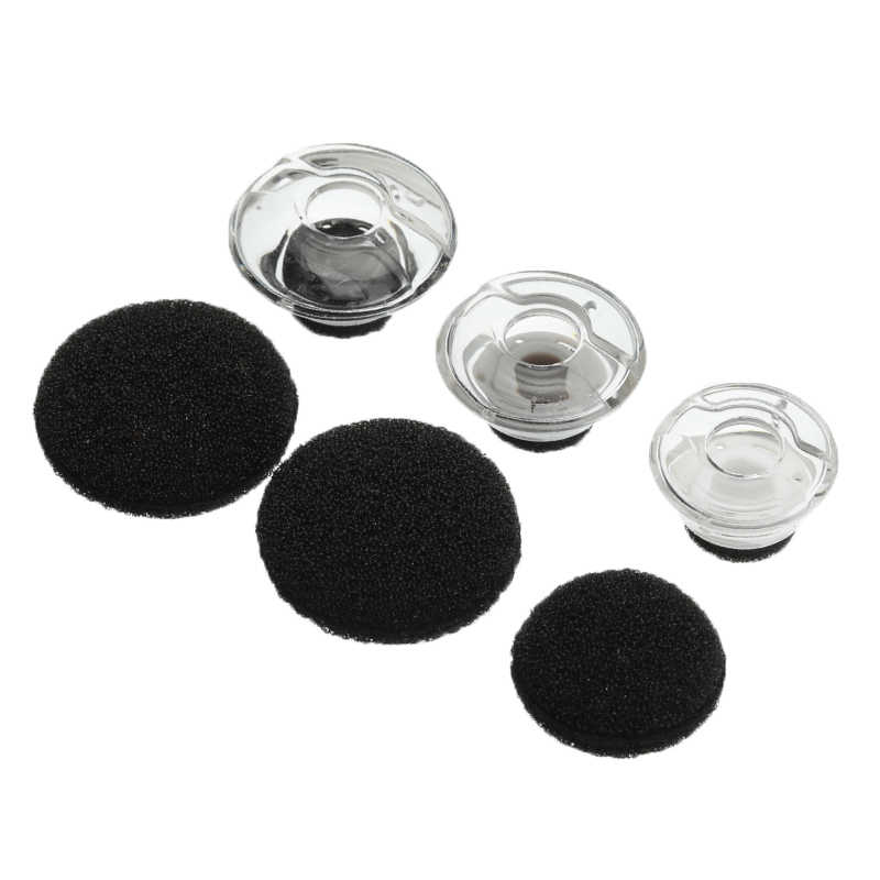 ebabef56d5f 6 PCS Clear Earbuds Tips Eargels Black Foam For Plantronics For Voyager For LEGEND  Earphone and