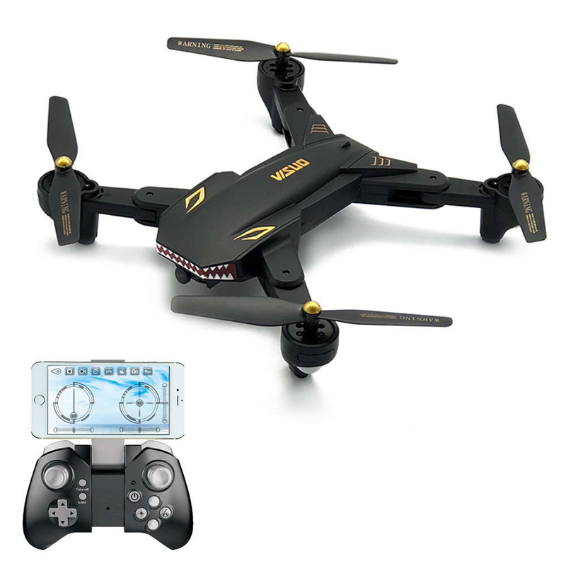 VISUO XS809S 2.0MP Wide Angle Camera Wifi FPV Foldable Drone One Key Return Altitude Hold G-sensor Quadcopter RC Toys As Gift