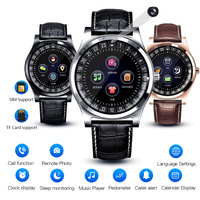BINSSAW Men Women Smart Watch Support with Camera Bluetooth SIM SD Card Smartwatch WristWatch for Android Phone Couple Band+box