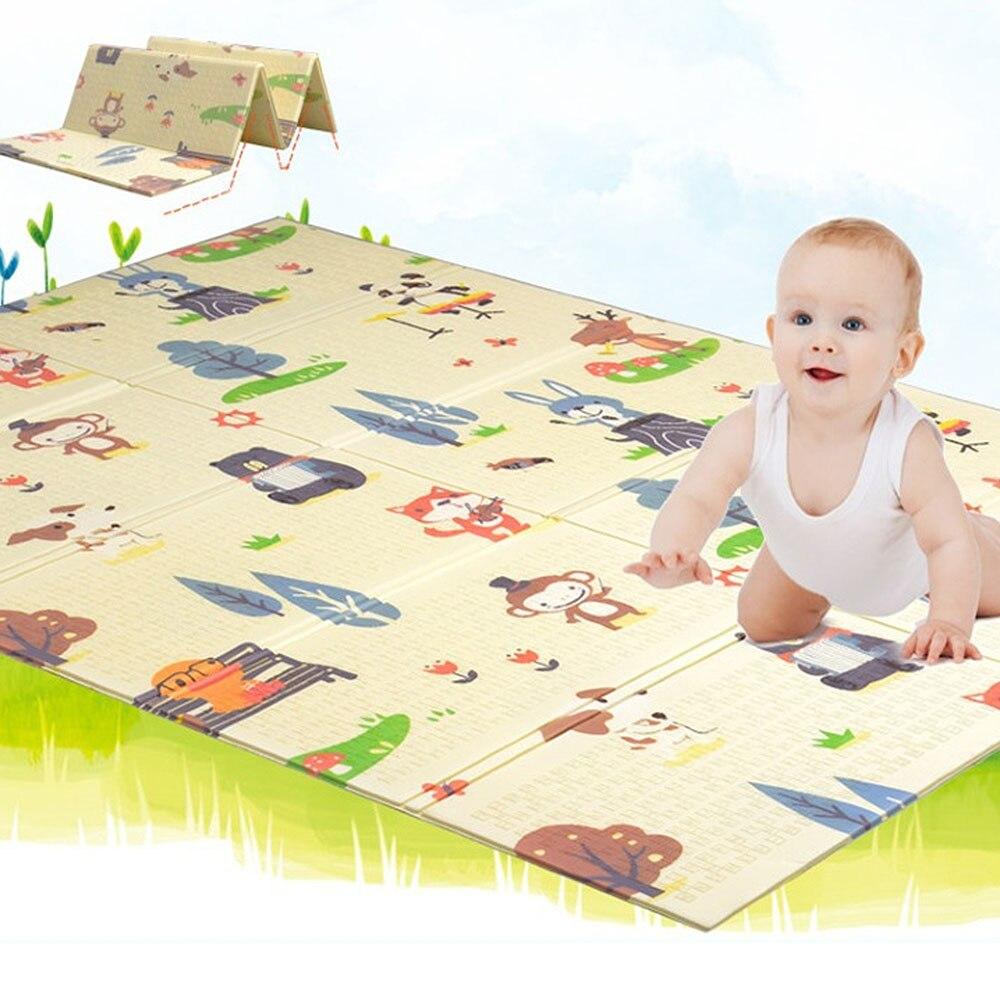 Tapis de jeu pour bébé brillant Xpe Puzzle réversible imperméable à l'eau Portable Double côtés enfants bébé enfant en bas âge utilisation extérieure ou intérieure