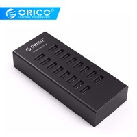 ORICO USB HUB 16 Ports Industrial USB2.0 Hubs USB Duplicator with 12V2A Power Adapter for Apple Macbook Air Laptop PC Tablet