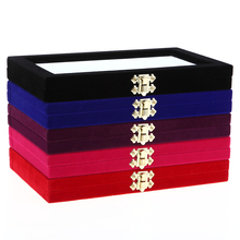 1Pcs 28 Grids Storage Box Plush Jewelry Case Nail Art Rhinestone Container Display Metal Buckle Design Manicure Tool 5 Colors