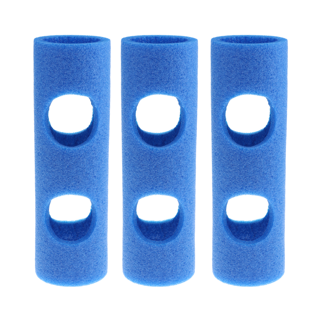 3Pcs Swimming Pool Foam Noodle Connector Builder With 2 Cross Holes - Water Toy Chair Float Bed Connection Joint Accessories