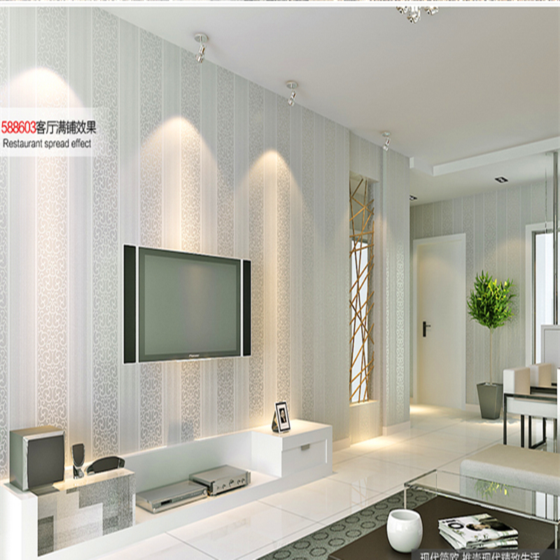 Salones blanco y beige cool comedor salon style color - Papeles pintados salon ...