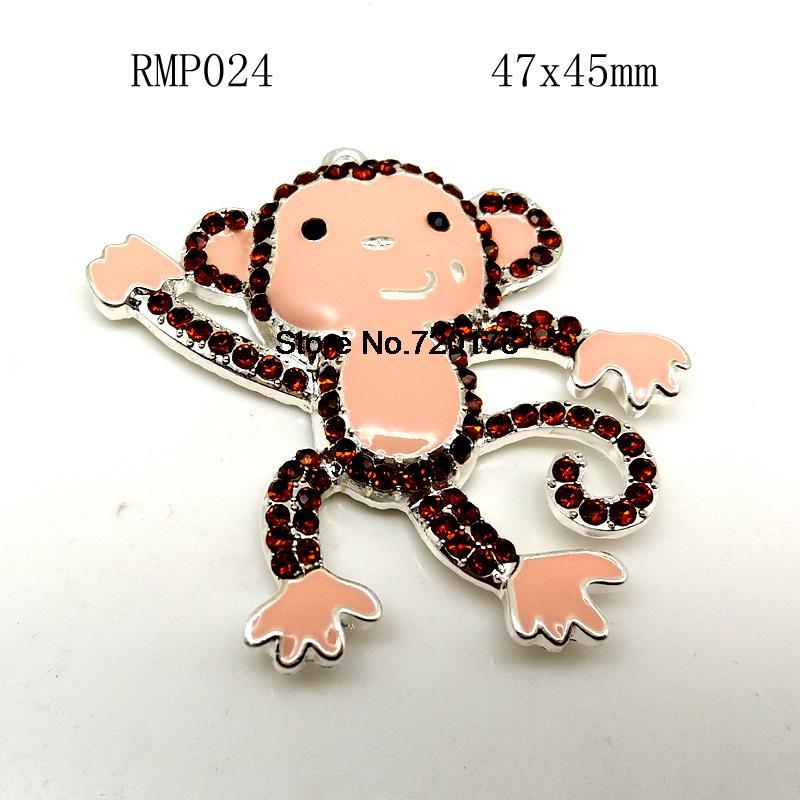 47x45mm Zinc alloy Enamel Little monkey Pendants in silver for font b Jewelry b font font