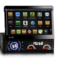 7 inch 1024*600 Android 1 DIN Car DVD Player GPS Navigation single din Car Radio Stereo Bluetooth Steering Wheel Control