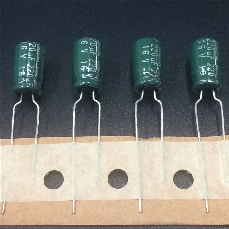 10pcs 220uF 16V SUNCON(SANYO) CA Series 6.3x11mm Low Impedance 16V220uF Aluminum Electrolytic Capacitor