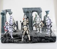 9 Stilleri Star Wars Stormtrooper Rakam Brinquedos Lightsaber Eylem Şekil Juguetes Darth Vader Yıldız Savaşları ZB058 KidsToys Rakamlar
