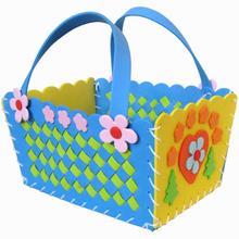 Украшение «сделай сам» поделки ручной работы цветок Швейные плетеные корзины детские развивающие 3D плетеные корзины