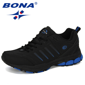 Image 2 - BONA chaussures de Sport dextérieur pour hommes, baskets de créateur, de course, de course, de course, de vache, tendance, nouvelle collection 2019